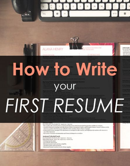 How to write your first job resume