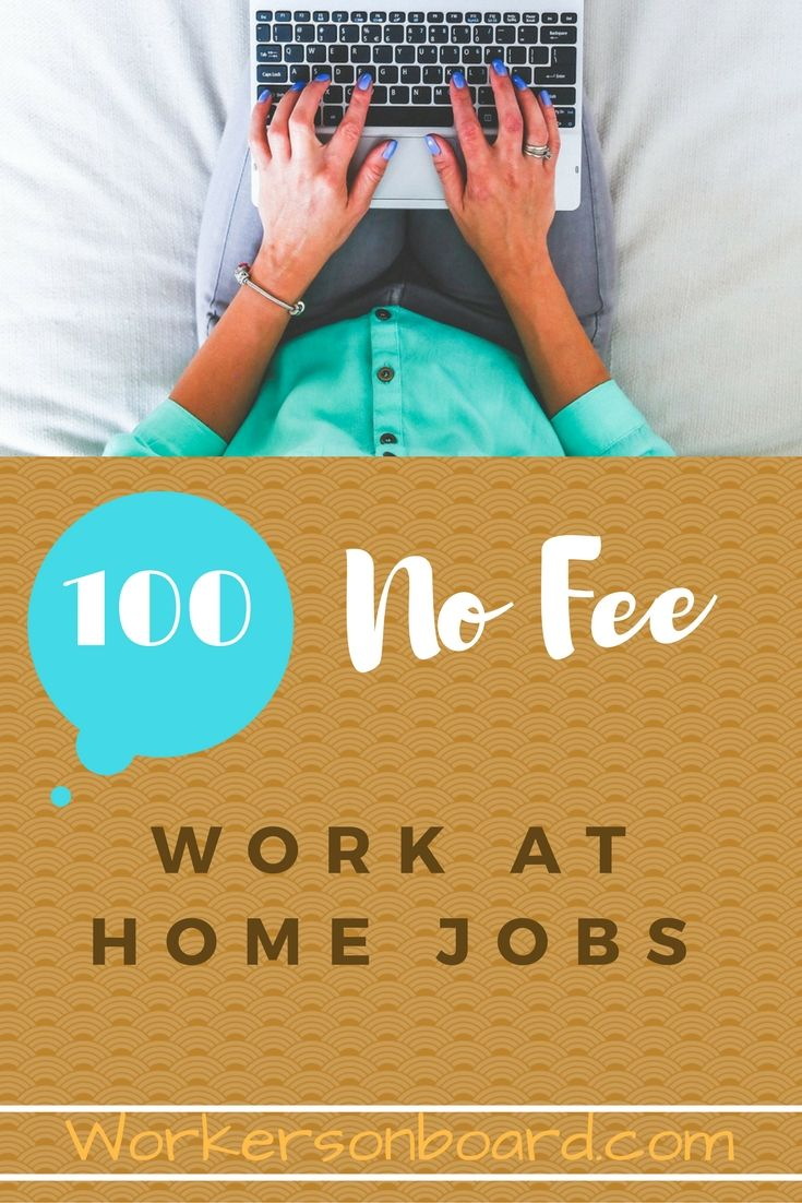 Career Infographic Looking For Work At Home Jobs That Do Not Require Any Fees If So There