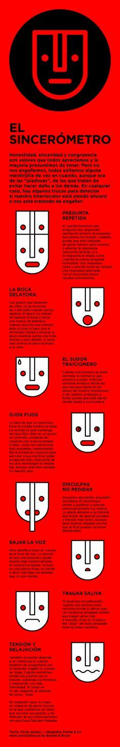 Psychology : Cómo detectar verdades y mentiras #infografia #infographic #psychology…