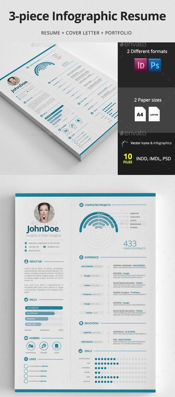 15 creative infographic resume templates envato tuts business