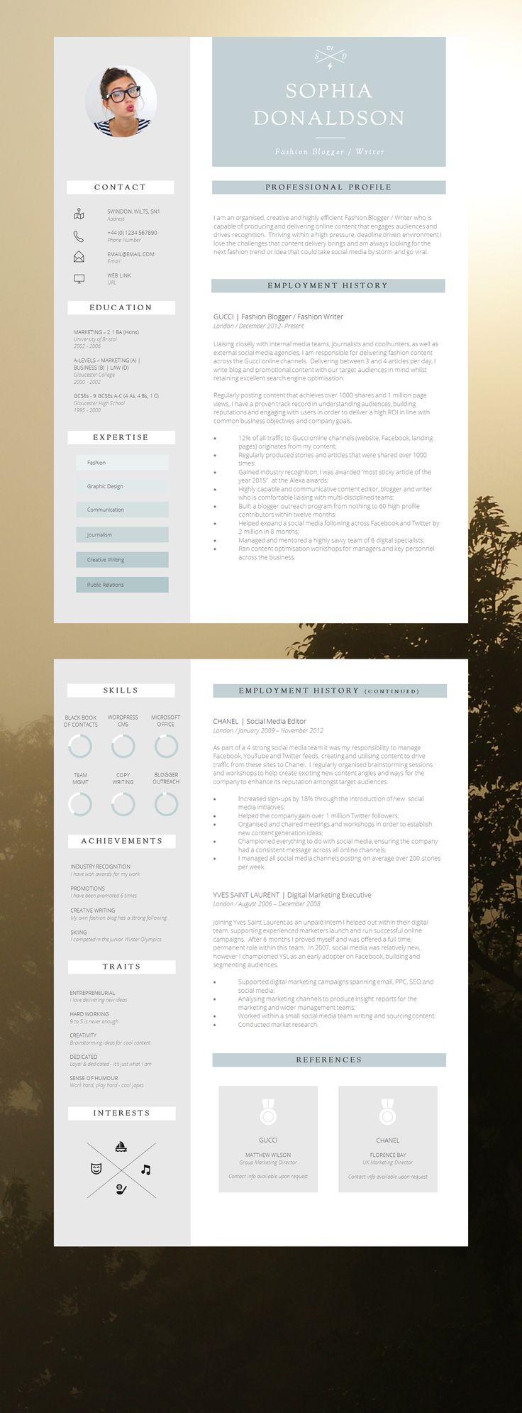 Infographic Cv Template Modern Cv Design Don T