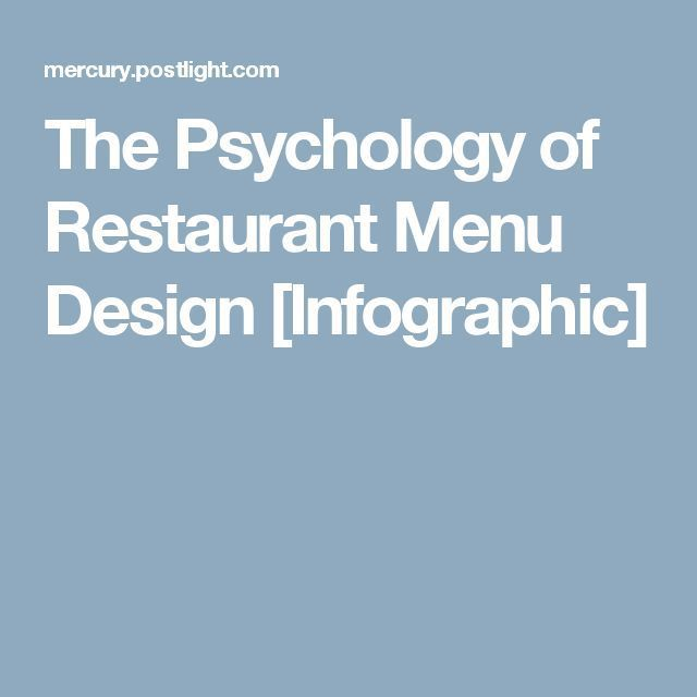 Psychology the of restaurant