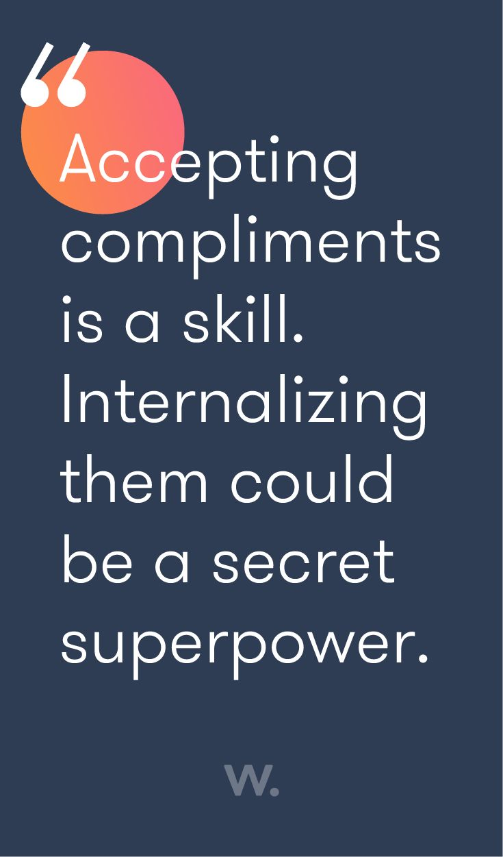 career infographic   accepting compliments is a skill