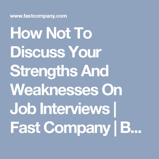 Strengths And Weaknesses For Fast Food Interview
