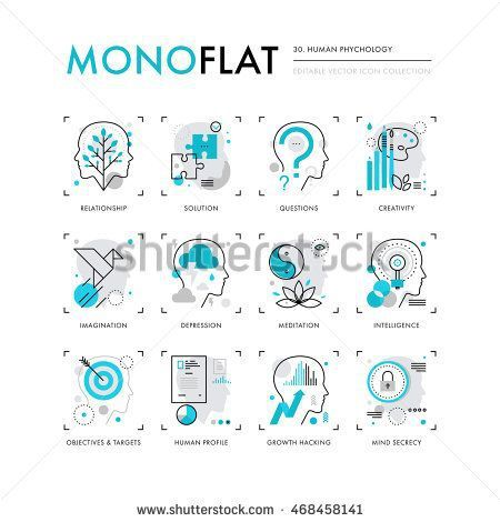 psychology psychology infographics icons collection of