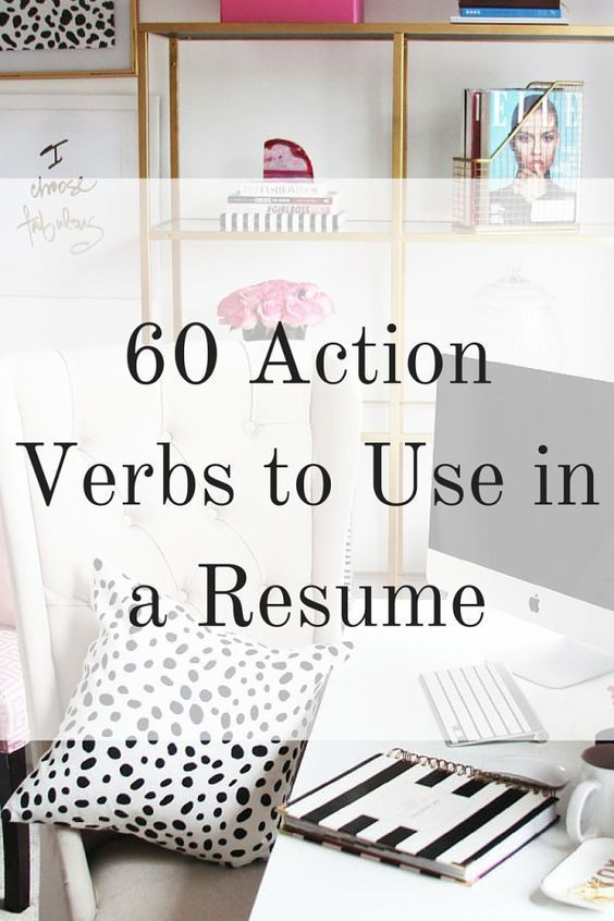 Verbs to use on resume