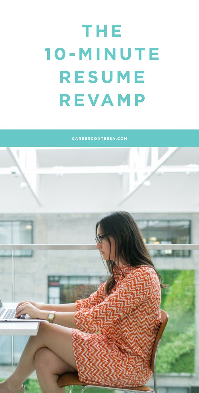 Resume the 10 minute resume revamp career contessa for 10 minute resume