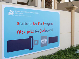 Students Lead Road Safety Campaign at British International School Abu Dhabi