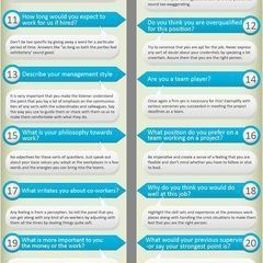 infographic : infographic : infographic : Most asked job interview questions and how to answer…