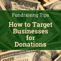 how to ask for donations from businesses