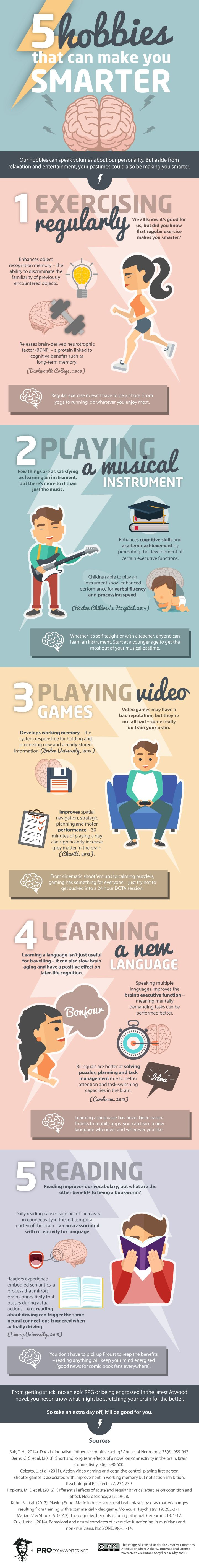 Psychology : What Are 5 Fun Hobbies That Can Make You Smarter? #infographic