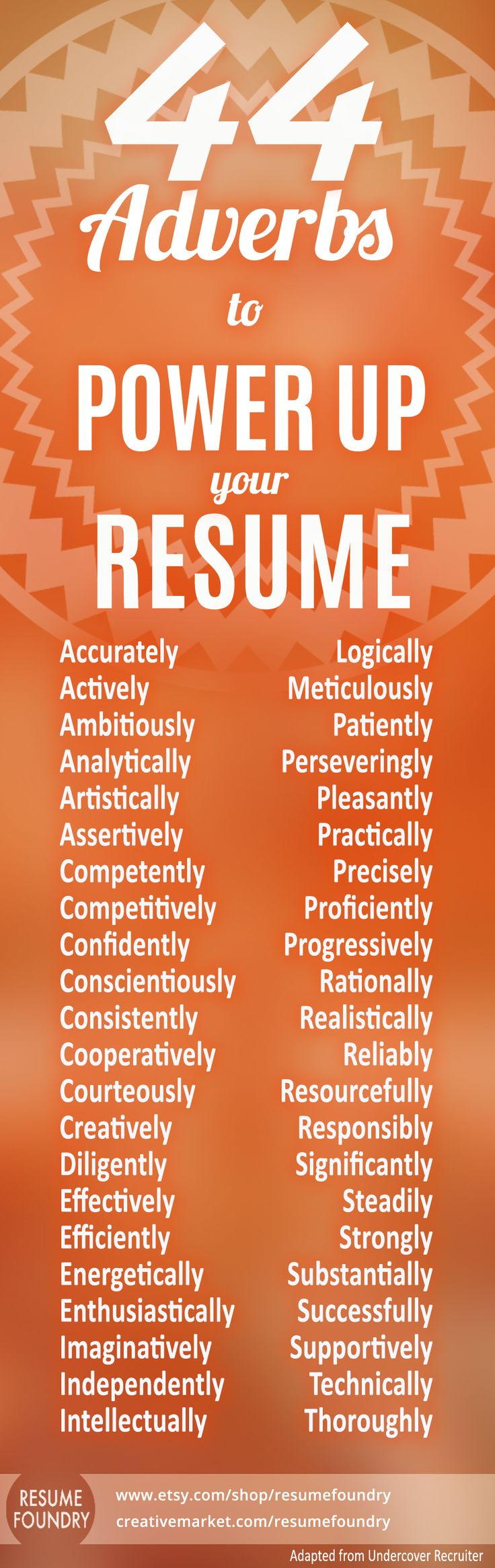 resume   44 adverbs to power