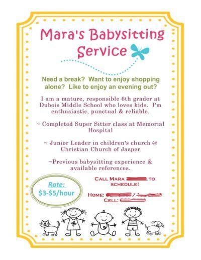 Resume : Babysitting Flyer using MDS!…