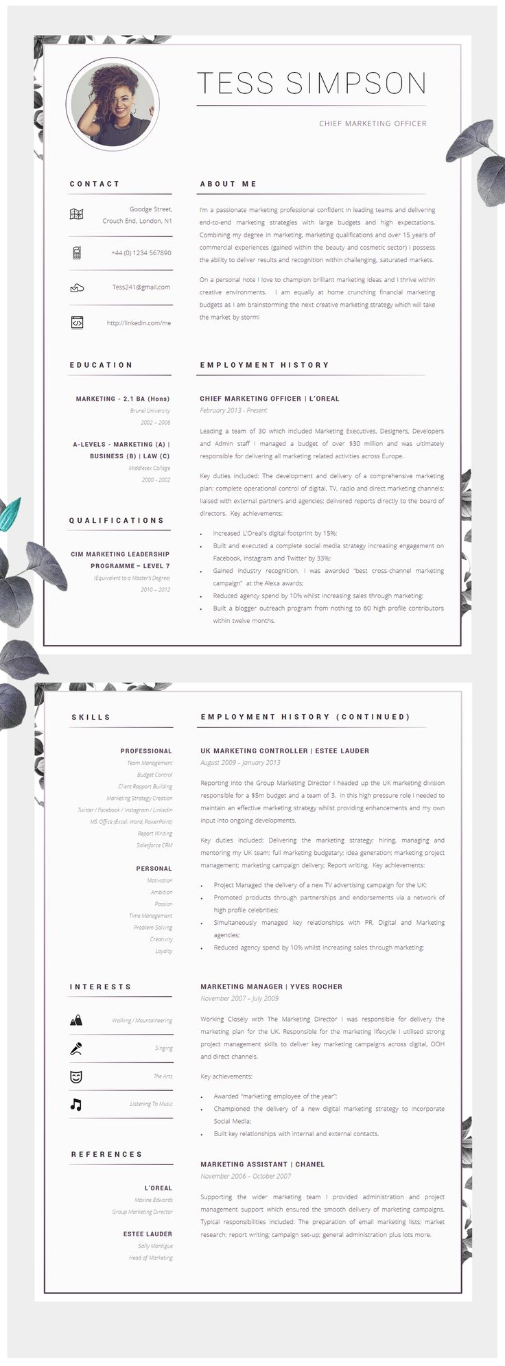 resume cv design resume design cv resume
