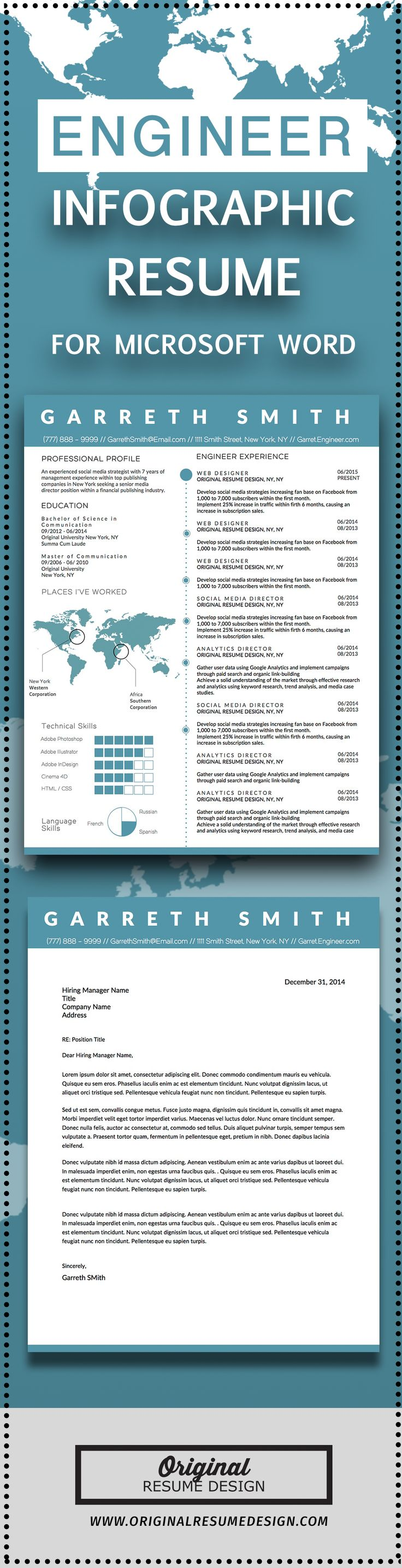 Infographic Cv Template Microsoft Word - Softwaremonster.Info