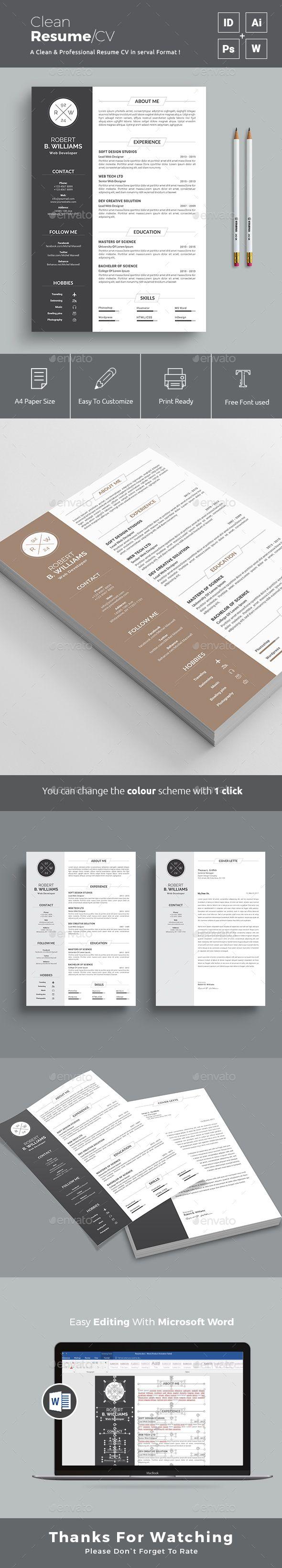 resume template cv template bundle 4 creative cv design with 20
