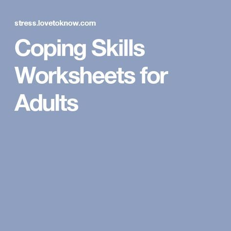 Stress management : Coping Skills Worksheets for Adults … - JobLoving.com | Your Number One