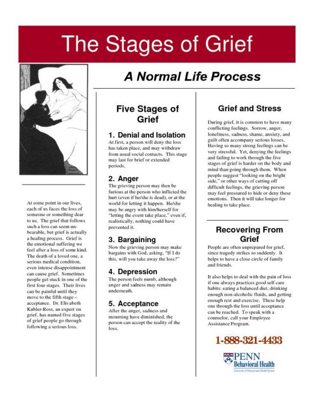 Printable grief worksheets for adults