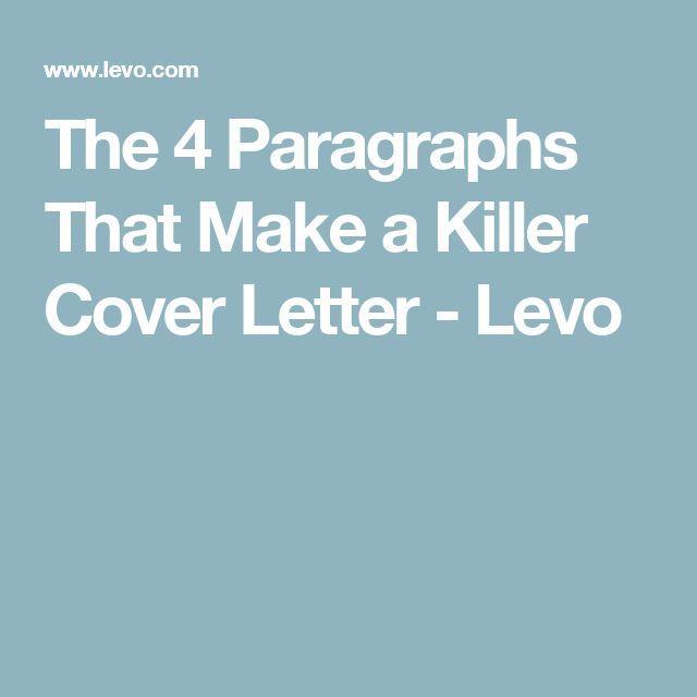 Killer cover letter employment
