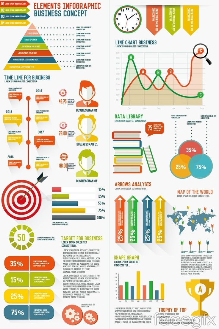 A Collection Of Best 65 Free Infographic Vectors Design Elements And