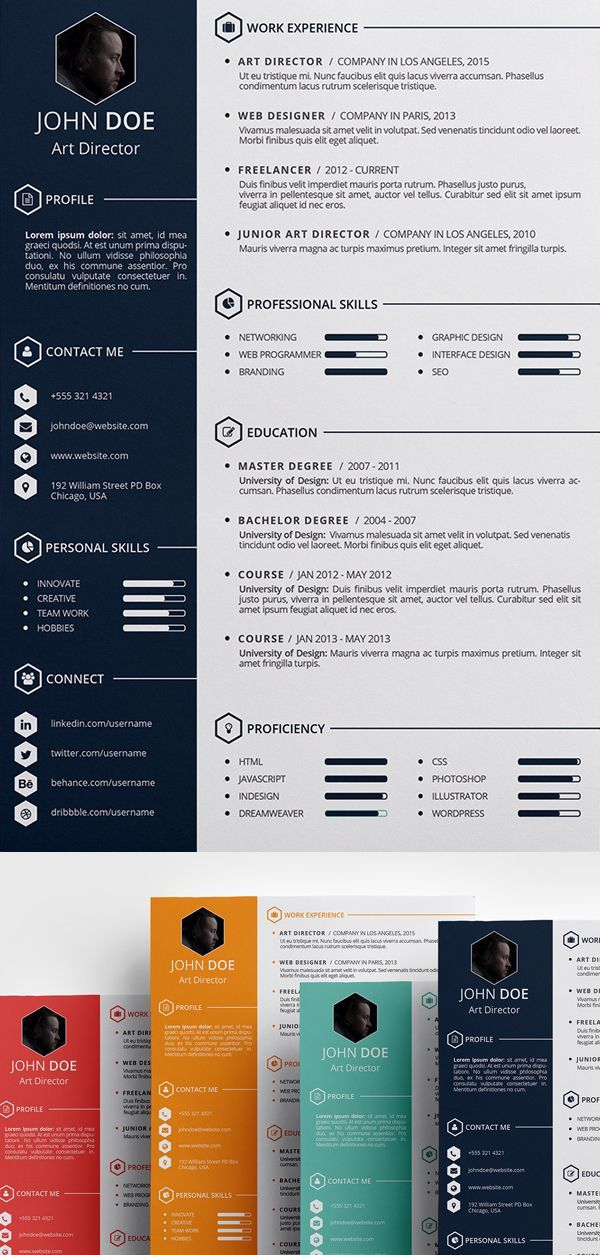 infographic   free creative  resume  template  psd  id