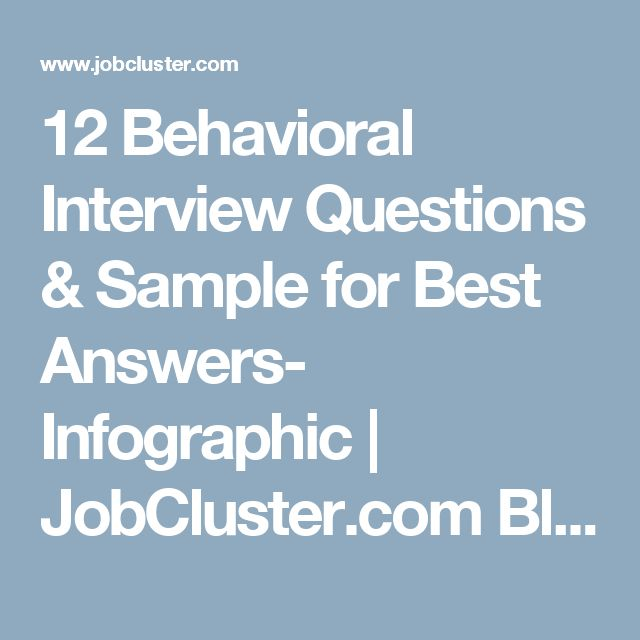 infographic   12 behavioral interview questions  u0026 sample