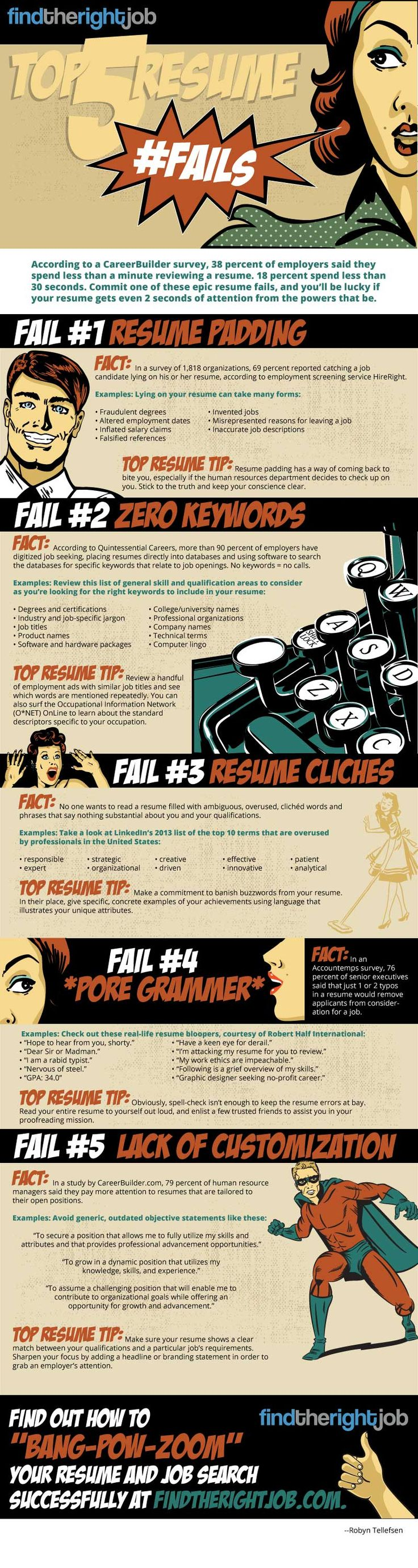 Most common resume search terms