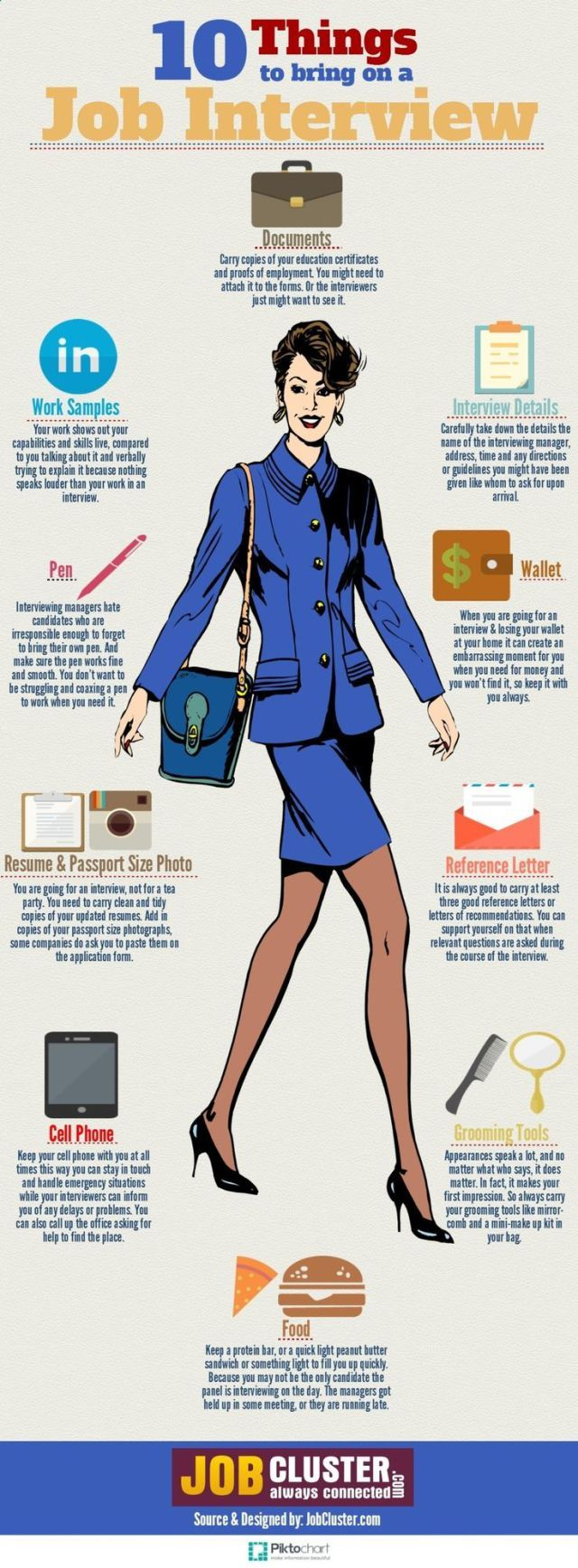 infographic : infographic : 10 Things to Bring On a Job Interview - JobLoving.com | Your