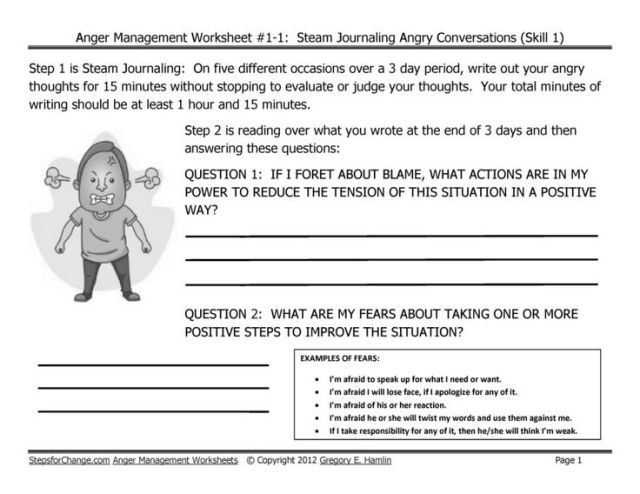 Stress Management Draft Skill 1 Anger Techniques And. Stress Management Draft Skill 1 Anger Techniques And Worksheets Ste. Worksheet. 11 1 Worksheet Job Opportunities At Clickcart.co
