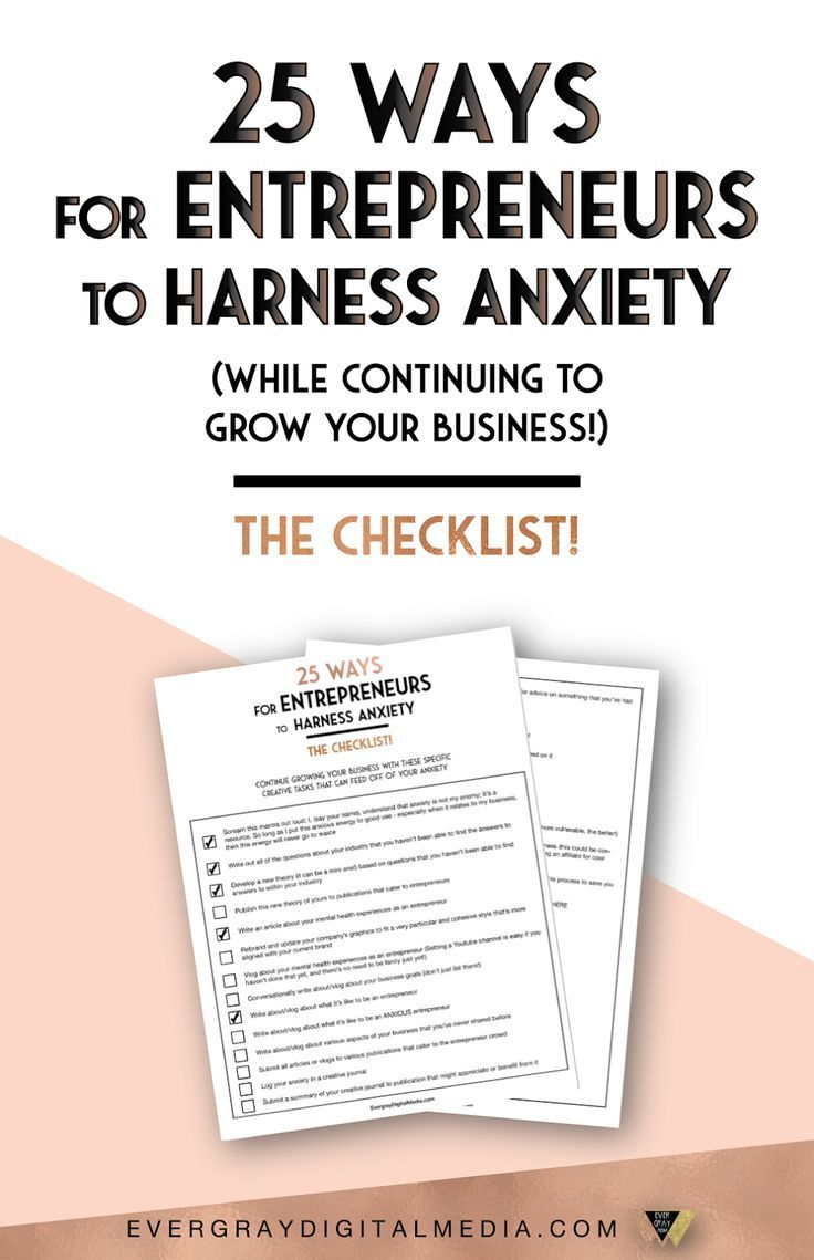 Stress management : Want to channel your anxiety and creatively grow your business? Download the