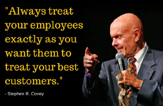 Work Quotes : Employee vs Customer. Please share, repin and like it. Visit us at :Geek Tech Qu…