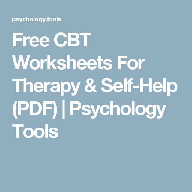Stress management : Stress management : Free CBT Worksheets For Therapy & Self-Help (PDF) | Psycholo…