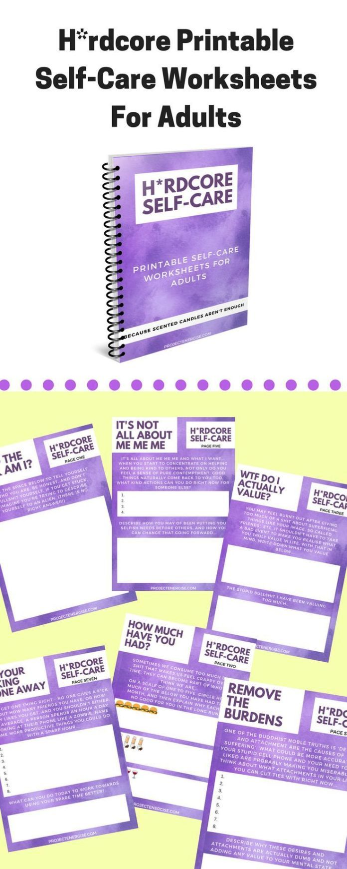 Stress management : Stress management : Hrdcore printable self-care worksheets for adults! for when …