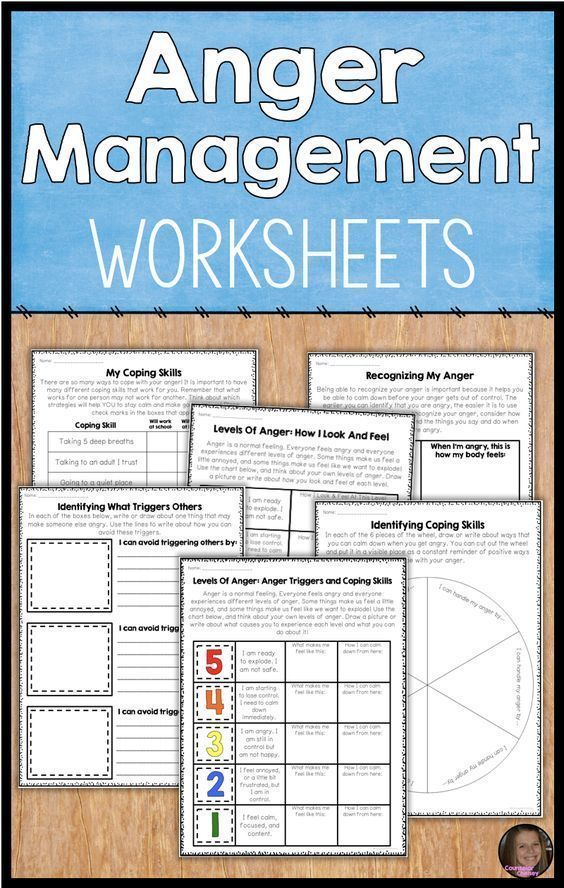 Stress management : Stress management : These upper elementary anger management worksheets will help…