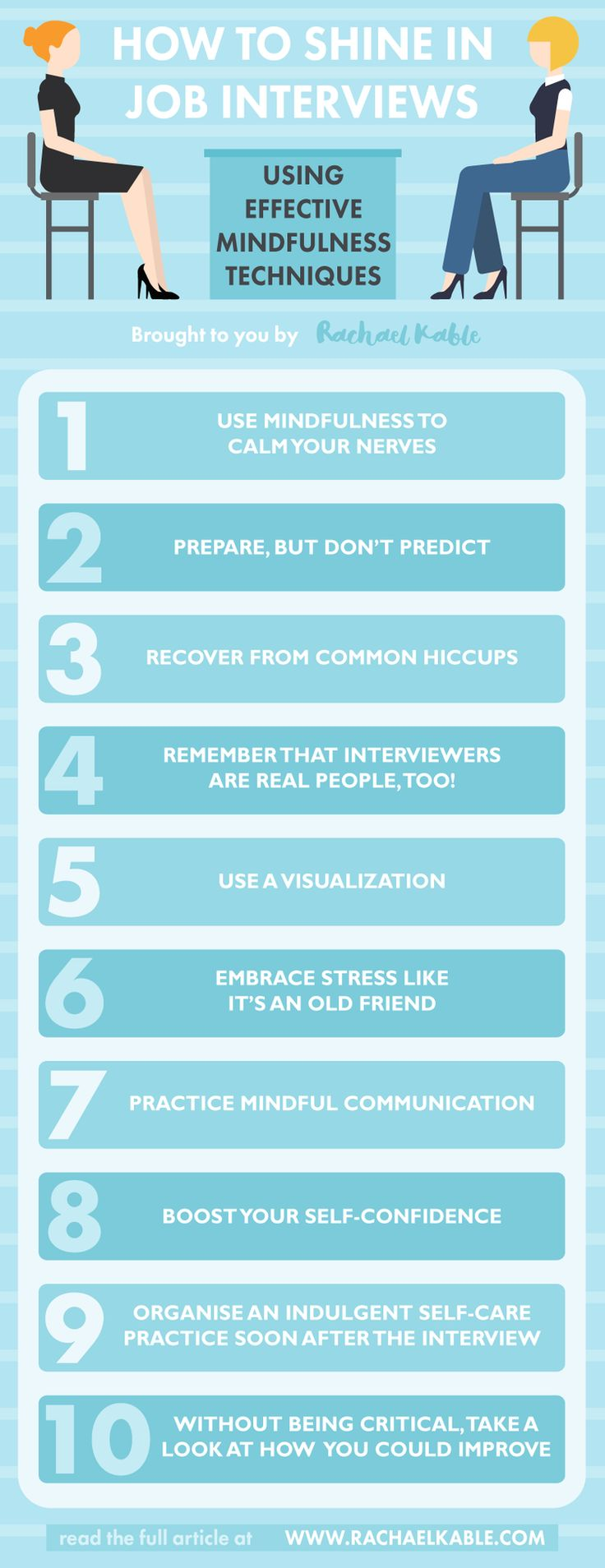 infographic : How to Shine in Job Interviews Using Effective Mindfulness Techniques — Rachae…