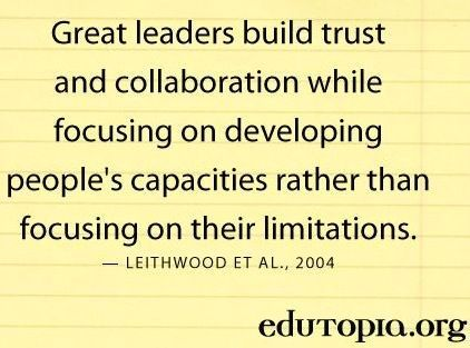 Work Quote : Quotes – Hard Work & Success : Great leaders build trust and collaboration……