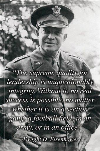 Leadership quote : inspirational leadership quote poster PRESIDENT DWIGHT D. EISENHOWER 24X36