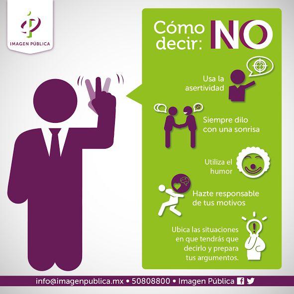 Psychology : Cómo decir NO #infografia #infographic #psychology