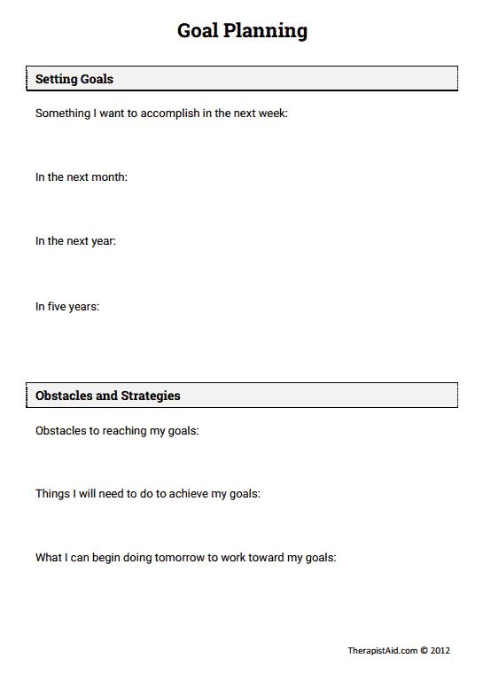 Stress Management Goal Planning Preview Jobloving Your